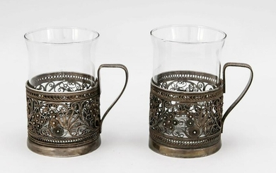 Pair of tea glass holders, 20th c.