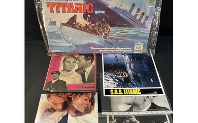 R.M.S. TITANIC: Lobby cards & photos to include SOS Titanic,...