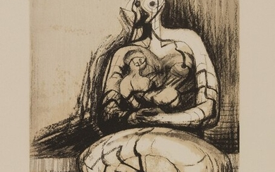 Seated Mother and Child, 1976, Henry Moore (Castleford 1898 - Much Hadham 1986)