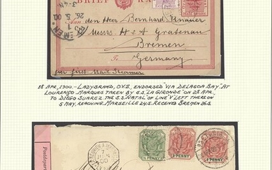"South African Maritime Mail from 1677 The ""Joachim"" Collection Foreign Lines France Messageries..."