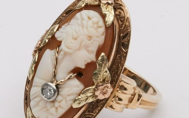 Yellow Gold Ladies Cameo Ring