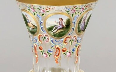 footed glass, 19th century, ro