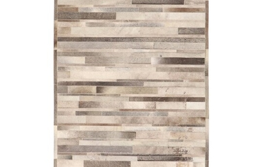5'1 x 7'10 Machine Made Cowhide Patchwork Rug, 2010s