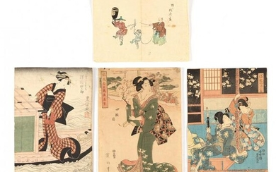 A Group of Four Japanese Works on Paper