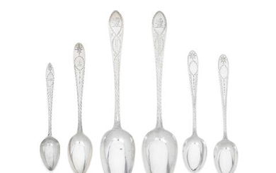 A collection of Irish provincial silver Celtic point bright-engraved spoons