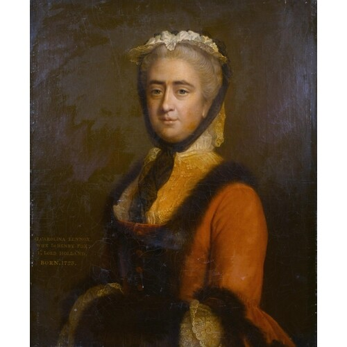 "Allan Ramsay (1713-1784) British. Portrait of ""G. Caroline L..."