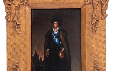 (-), Anonymous, portrait of a standing man with...