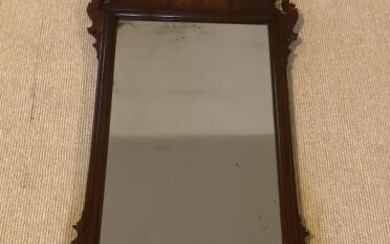 Antique Chippendale Style Carve Mahogany Mirror
