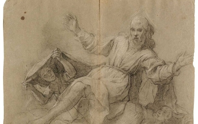 Attributed to Pietro Bernardi, St. Francis receiving the Stigmata and other studies