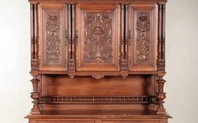 CARVED FRENCH HENRI II STYLE CABINET C.1900