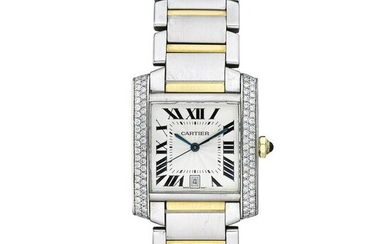 Cartier Tank Francaise in Steel with Two Tone Bracelet
