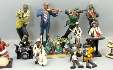 Collection of 12 Decorative Figurines of Music Players