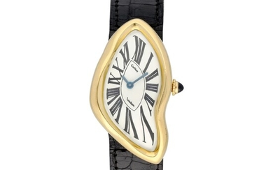 Crash, An exceptionally rare 18K yellow gold manual winding wristwatch Made by Cartier London in 1970, Cartier, London