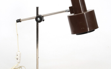 DESK LAMP, plastic and steel pipes, 1960s / 70s.