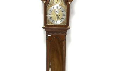 Early 19th century and later long case clock, the...