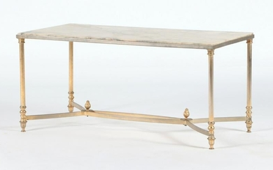 FRENCH NEOCLASSICAL STYLE MARBLE TOP COFFEE TABLE