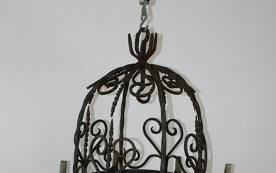 French iron dome top 8 arm chandelier