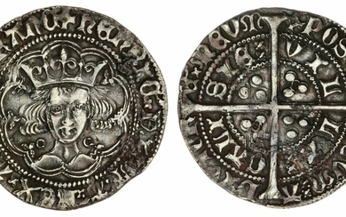 Henry VI, First Reign (1422-1461), Annulet Issue, Groat, 1422-1427, Calais