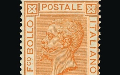 Italy : (SG 22a) 1877 20c orange, unmounted mint with very m...
