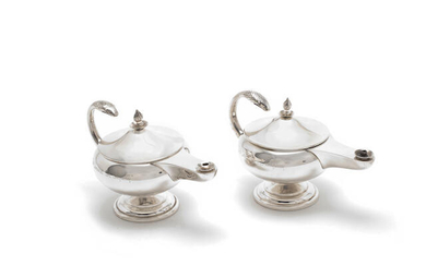 Military Interest: a pair of silver table lighters