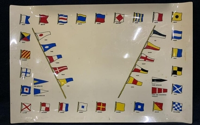 NATO Phonetic Alphabet & Flags Serving Tray