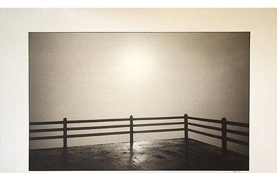 Nick Ross: large Black and White signed and notated photogra...