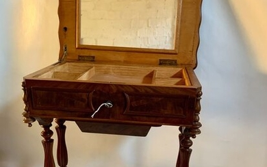 Side table, Side table with secret drawer - Louis Philippe Style - Mahogany - Second half 19th century