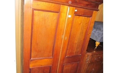 Solid Oak Two Door Cupboard.