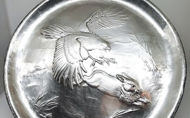 Wonderful Wall Plate - .800 silver - Italy - Mid 20th century