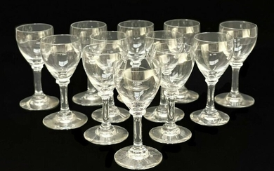 12 Baccarat Crystal Cordial Glasses in Chambolle