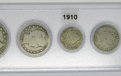 1910 U.S. YEAR SET - 5 COINS - 1910 LINCOLN CENT
