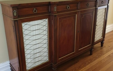 A Fantastic Mahogany Side Cabinet in the Regency style with ...