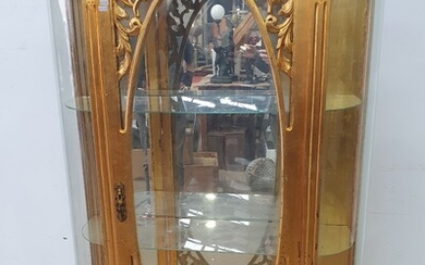 A GILT PAINTED FRENCH STYLE VITRINE