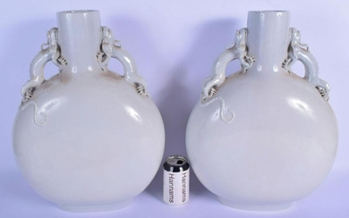 A LARGE PAIR OF EARLY 20TH CENTURY CHINESE BLANC DE