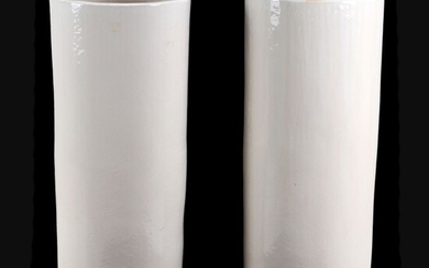 A PAIR OF LARGE CACHEPOTS