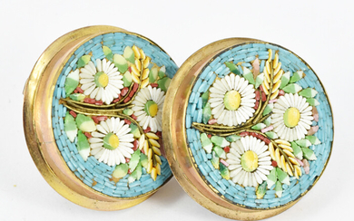 A PAIR OF LATE 19th CENTURY VENETIAN BUTTONS