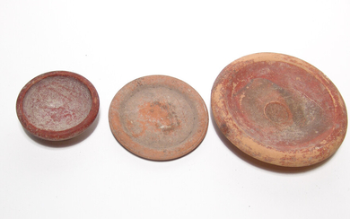 A group of 3 Roman red-ware pottery vessels