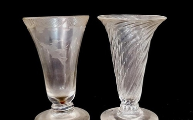 A late 18th Century jelly glass of slender bell form with an...