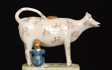 A late 18th to early 19th Century Staffordshire creamware co...