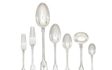 A silver Fiddle, Thread and Shell pattern flatware service