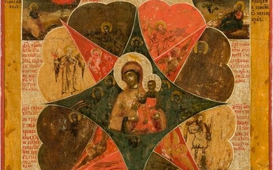 AN ICON SHOWING THE MOTHER OF GOD 'OF THE BURNING BUSH'