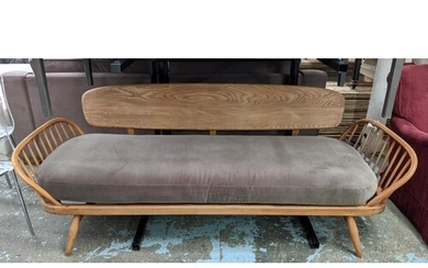 ATTRIBUTED TO ERCOL, SURFBOARD SOFA 210cm W.