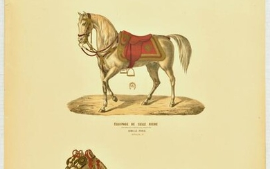 Advertising Poster Camille Paris Horse Harness