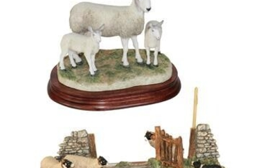 * Border Fine Arts 'Blue Faced Leicester Ewe and Lambs'...