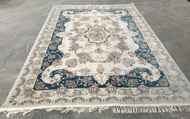 Handmade, Persian New Flower Design, Silky Look Carpet (300 ...