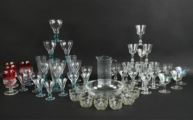 LARGE GROUPING OF VINTAGE GLASSWARE INCL. BRYCE