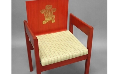 PRINCE OF WALES INVESTITURE CHAIR a 1969 chair designed by L...