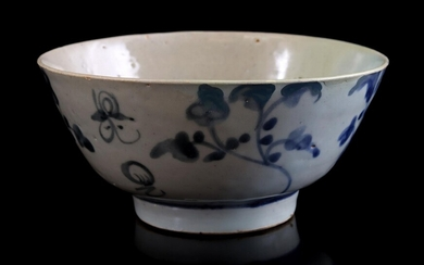 (-), Porcelain bowl with blue decor, China late...
