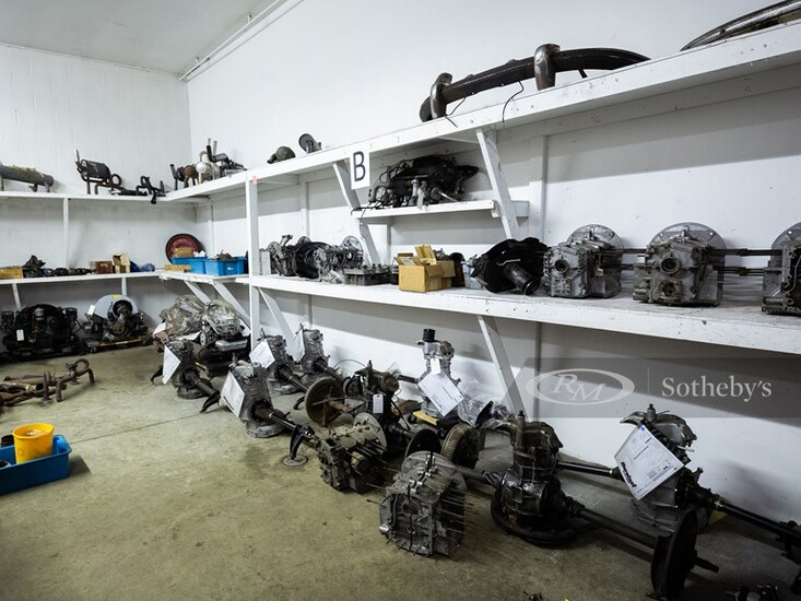 Porsche Four-Cylinder Engines, Transaxles, Engine Cases, and Assortment of Driveline and Engine Accessories