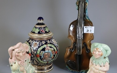 Royal Doulton 'The Jester' D7109, and 'The Lady Jester' D711...